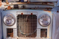 葡萄酒老汽车难看的东西外部 免版税库存图片