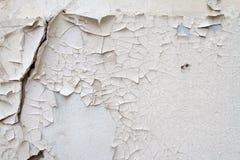 葡萄酒老砖石工背景纹理在古老水泥的与与老油漆踪影的镇压  免版税库存图片