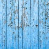 葡萄酒老蓝色木墙壁背景 免版税库存照片