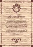 葡萄酒背景框架设计木黑色的传染媒介 图库摄影