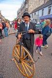 葡萄酒脚蹬自行车在Grantown在Spey 免版税库存照片