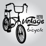 葡萄酒自行车传染媒介 免版税库存照片