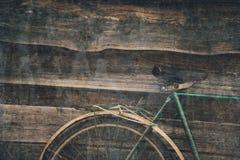 葡萄酒自行车细节  免版税库存照片