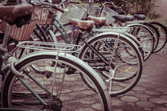 葡萄酒自行车 库存照片