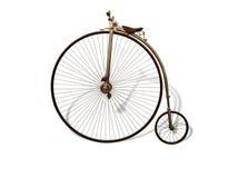 葡萄酒自行车 图库摄影