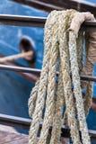 葡萄酒船设备细节 免版税图库摄影