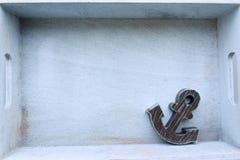 葡萄酒船锚装饰 免版税库存图片