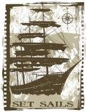 设置风帆 免版税库存图片