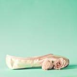 葡萄酒芭蕾舞鞋 免版税库存照片