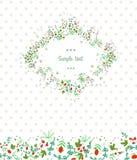 葡萄酒花卉卡片 库存照片