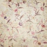 葡萄酒花卉墙纸 库存照片