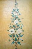 葡萄酒花卉样式墙壁背景 图库摄影