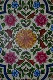 葡萄酒花卉样式墙壁背景 库存照片