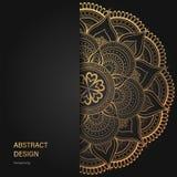 葡萄酒花卉样式小册子和飞行物设计模板 创造性的艺术元素和装饰品,页面设计,豪华金子 库存图片