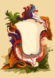葡萄酒花卉框架。 婚姻的假日招呼或 库存图片