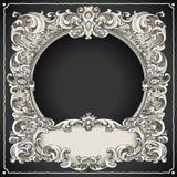 葡萄酒花卉框架 库存图片