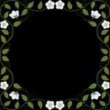 葡萄酒花卉框架 库存照片