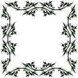 葡萄酒花卉框架 免版税图库摄影