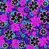 葡萄酒花卉模式 库存照片