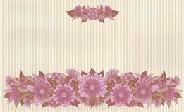 葡萄酒花卉横幅,传染媒介 库存照片