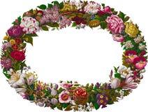 葡萄酒花卉花圈 库存照片