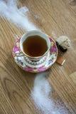 葡萄酒茶&糖 库存图片