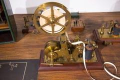 葡萄酒莫尔斯通信机机器 免版税图库摄影