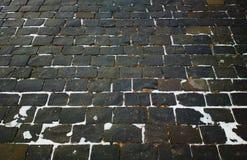 葡萄酒莫斯科砖石头路面背景 图库摄影
