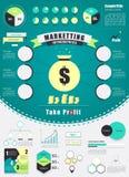 葡萄酒营销infographics元素 也corel凹道例证向量 免版税库存照片