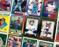 葡萄酒蒙特利诺大展棒球收集的纸牌拼贴画 库存照片