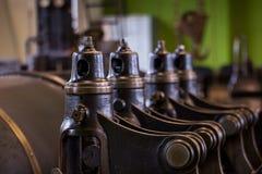 葡萄酒蒸汽引擎授权的采矿绞盘 库存图片