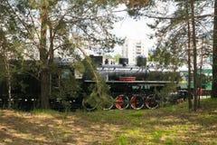 葡萄酒蒸汽机车 库存图片