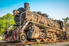 葡萄酒蒸汽火车 库存照片