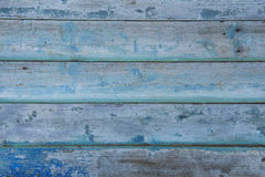 葡萄酒蓝色木头 免版税库存图片