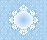 葡萄酒蓝色框架 图库摄影