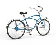 葡萄酒蓝色自行车 图库摄影