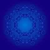 葡萄酒蓝蓝背景 库存图片
