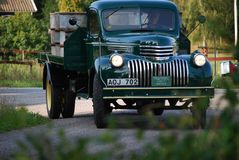 葡萄酒薛佛列卡车1946年 库存图片
