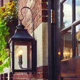 葡萄酒街灯在波士顿,大量 ,美国 免版税库存照片