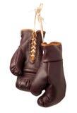 葡萄酒被隔绝的拳击手套 免版税图库摄影