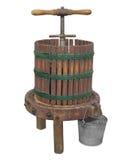 葡萄酒被隔绝的苹果新闻 免版税库存图片