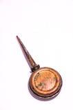 葡萄酒被风化的油罐头 免版税库存照片