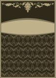 葡萄酒装饰品框架 免版税库存图片