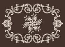 葡萄酒装饰品框架 免版税库存照片
