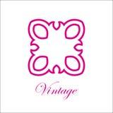 葡萄酒装饰物商标 免版税库存照片