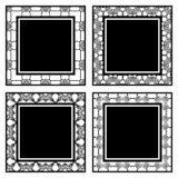 葡萄酒装饰物框架 库存例证