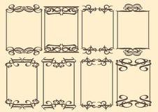 葡萄酒装饰设计边界 免版税库存图片