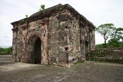 葡萄酒西班牙堡垒在巴拿马 图库摄影