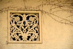 葡萄酒视窗 库存照片