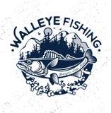 葡萄酒角膜白斑渔象征和标签 图库摄影